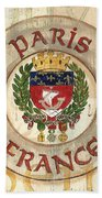 French Coat Of Arms Beach Sheet