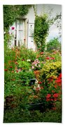 French Cottage Garden Beach Towel