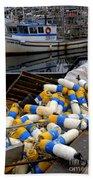 French Creek Trawlers Beach Towel by Bob Christopher