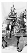 French Knight, 16th Century Beach Towel