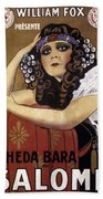 French Poster: Salome, 1918 Beach Towel