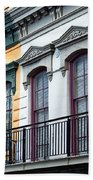 French Quarter Balconies Beach Towel