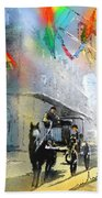 French Quarter In New Orleans Bis Beach Towel