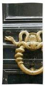 French Snake Doorknocker Beach Sheet