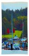 Friday Harbor Docks Beach Towel