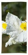 Fried Egg Flowers Beach Towel