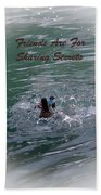Friends Are For Sharing Secrets Beach Towel by DigiArt Diaries by Vicky B Fuller