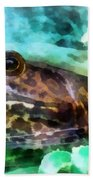 Frog Ready To Be Kissed Beach Towel by Susan Savad