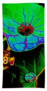 From The Psychedelic Garden Beach Towel
