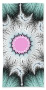 Frost Flower Beach Towel