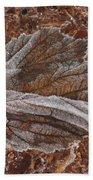 Frosted Raspberry Leaf Beach Towel