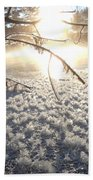 Frosty Ice At Sunrise Beach Towel
