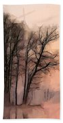 Frosty Morning At The Lake Beach Towel