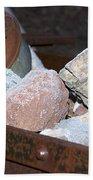Frosty Rocks Beach Towel