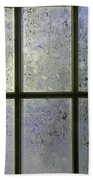 Frosty Window Pane Beach Towel