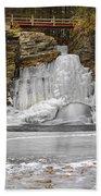 Frozen Falls Beach Towel
