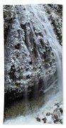 Frozen Narada Falls Beach Towel