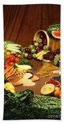 Fruit And Grain Food Group Beach Towel