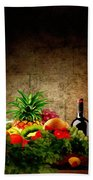 Fruit And Wine Beach Towel