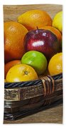 fruits with vitamin C Beach Towel