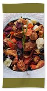 Fruity Tea With Bamboo Leaves Square Beach Towel
