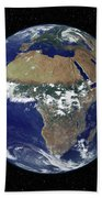Full Earth Showing Africa And Europe Beach Towel