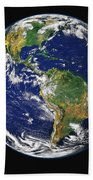 Full Earth Showing The Western Beach Towel