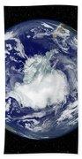 Fully Lit Full Disk Image Centered Beach Towel by Stocktrek Images