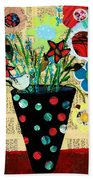 Funky Flowers Beach Towel