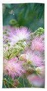 Furry Pink Bouquet Beach Towel
