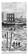 Galveston: Fire, 1877 Beach Towel