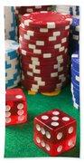 Gambling Dice Beach Towel