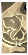 Ganesha In Sepia Hues Beach Towel
