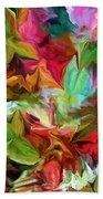 Garden Abstract 072312 Beach Towel