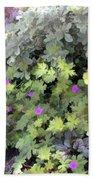 Garden Flower Border Beach Towel