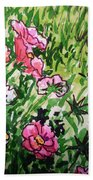 Garden Flowers Sketchbook Project Down My Street Beach Towel