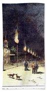 Gas Lights, 1885 Beach Towel