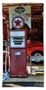 Gas Pump - Texaco Gas Globe Beach Towel