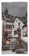 Gasthaus And Church-colour Beach Towel