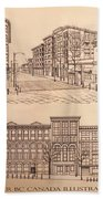 Gastown Vancouver Canada Prints Beach Towel