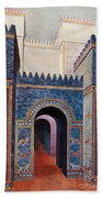 Gate Of Ishtar, Babylonia Beach Towel by Photo Researchers