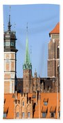 Gdansk Old Town In Poland Beach Towel
