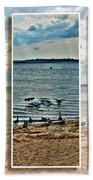 Geese Point Landing Triptych Beach Towel