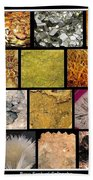 Gemstones And More Collage Beach Towel