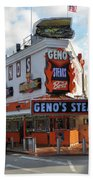 Geno's Steaks - South Philadelphia Beach Towel