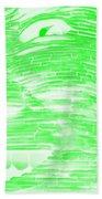 Gentle Giant In Negative Light Green Beach Towel