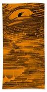 Gentle Giant In Negative Orange Beach Towel
