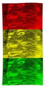 Gentle Giant In Negative Stop Light Colors Beach Towel
