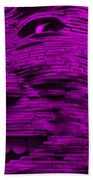 Gentle Giant In Purple Beach Towel