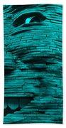 Gentle Giant In Turquois Beach Towel